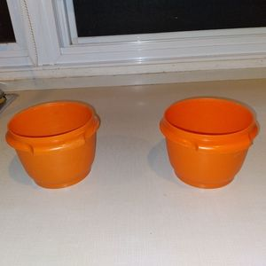 Vintage Tupperware Lot Of 2 Containers No Lids